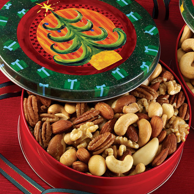 Roasted Mixed Nuts - Christmas Tin