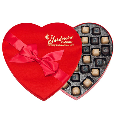 Heart - Salted Dark & Milk Caramels