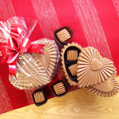 Ruffle Chocolate Heart Twin