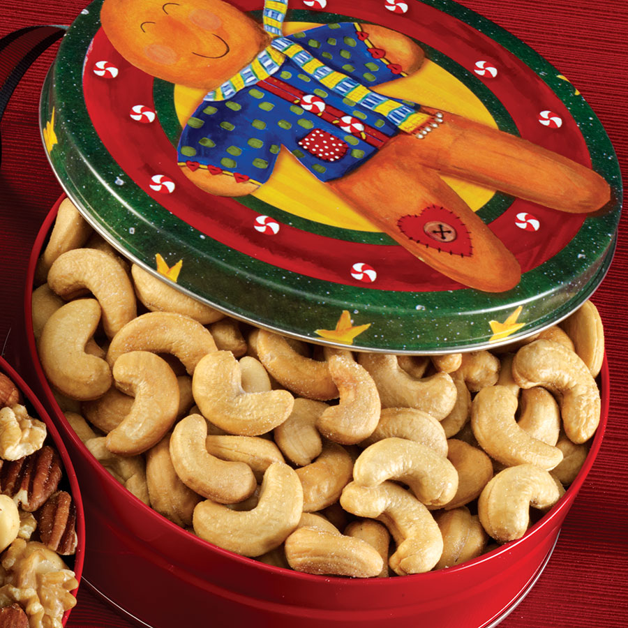 Whole Jumbo Cashews- Christmas Tin